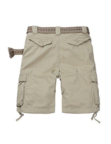 Match Cargo Shorts Sergé pour Homme #S3612 3612 Abricot(Apricot)