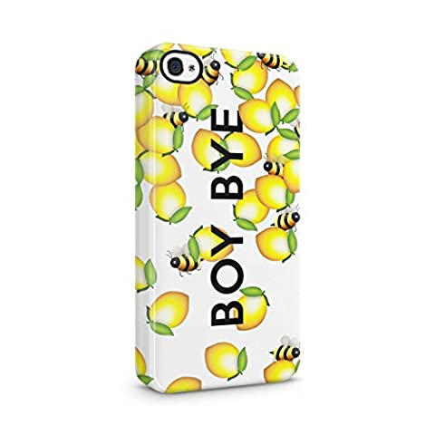 Boy Bye Cute Bumblebees & Lemons Hard Thin Plastic Phone Case Cover For iPhone 4 & iPhone 4s