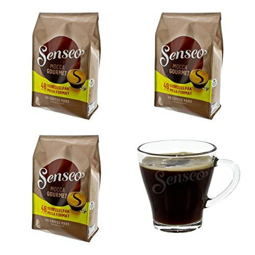 Senseo Kaffeepads Mocca Gourmet, Frisch & Intensiv, Kaffee für Kaffepadmaschinen, 144 Pads, mit...