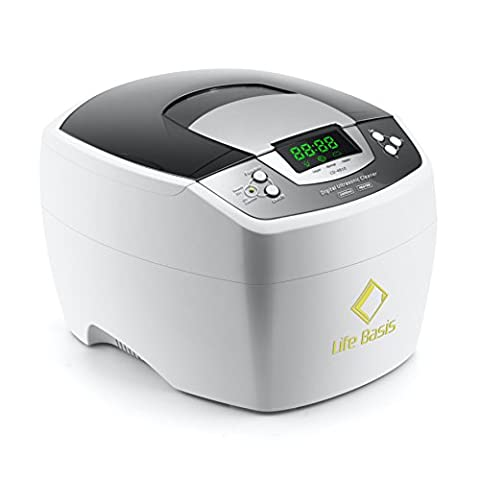LifeBasis 2000ML Ultrasonic Cleaner, Ultra Sonic Washer for Jewellery, CD/DVD, Coins, Glasses, Watch Metal, Dentures, (Doppia Frequenza Trasduttore)