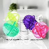 Dinta Mall Silicone Washing Washer Dry Laundry Balls (Multicolour) -Set of 4