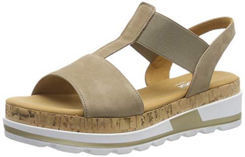 Gabor Shoes Comfort Sport, Sandali con Cinturino alla Caviglia Donna, Beige (Silk (Kork) 33), 35.5 EU
