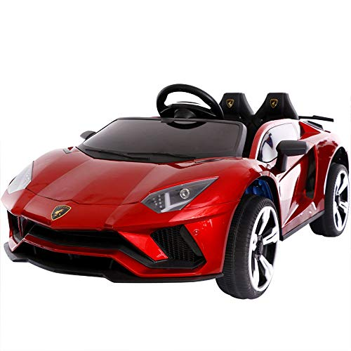 SIMR6 3-Gang-Geschwindigkeitsregelung 2.4G Fernbedienung Auto Sportwagen (kann sitzen) 12V Dual Drive 390 Motor Allrad-Stoßdämpfung - USB-Schnittstelle - MP3-Buchse - Volumenaddition und -subtraktion