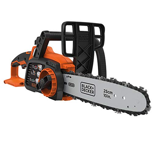 BLACK+DECKER GKC1825LB-XJ GKC1825LB-XJ Tronçonneuse sans fil - 3,5 m/s - Sans batterie 18V, Orange, 25 cm