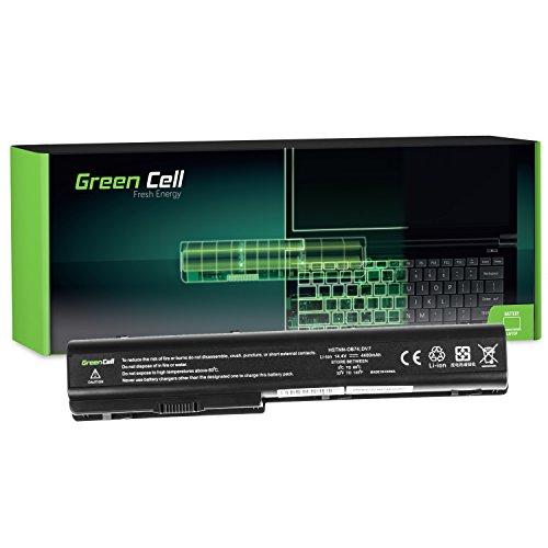 GC® Laptop Akku für HP Pavilion DV7-1030ES DV7-1030EV DV7-1030EZ DV7-1030TX DV7-1030XX (4400mAh 14.4V Schwarz) -