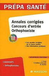 Annales corrigées Concours d'entrée Orthophoniste