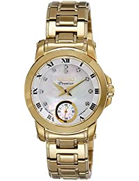Seiko Premier Analog Mother of Pearl Dial Women's Watch - SRKZ60P1