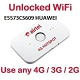 #9: Airtel Reliance Jio Sim Supported 4G E5573Cs-609 Latest Model Wifi Data Card 2G/3G/4G Unlocked Support All Networks 2G/3G4G Simcards With Battery,Usbcable,Main Unit