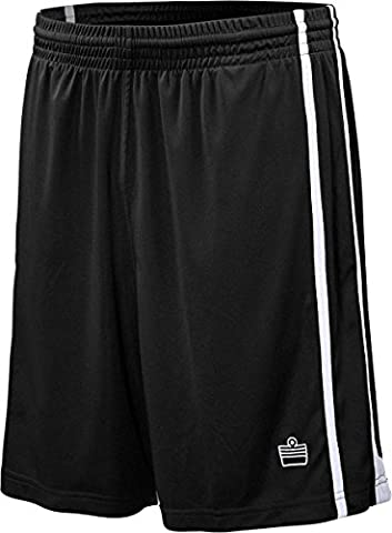 Admiral Stoke Ready-to-Play Premium Soccer Shorts, Black/White, Youth
