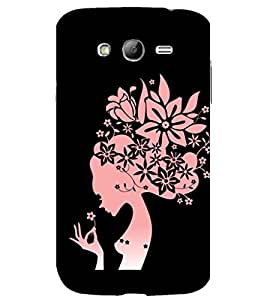 printtech Beautiful Flower Girl Abstact Back Case Cover for Samsung Galaxy Grand Neo / Samsung Galaxy Grand Neo i9060