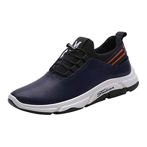 Holeider Herren Sneaker Laufschuhe Sportschuhe Atmungsaktiv Gemütlich Freizeitschuhe Schnürschuhe Low-Top Rutschfest Schuhe 3 Farbe 39-44,
