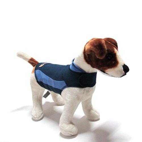 thundershirt–Azul–SZ. XXS–XXL–Chaleco de antiestrés punto de presión Abrigo para perros (relajante Camisa