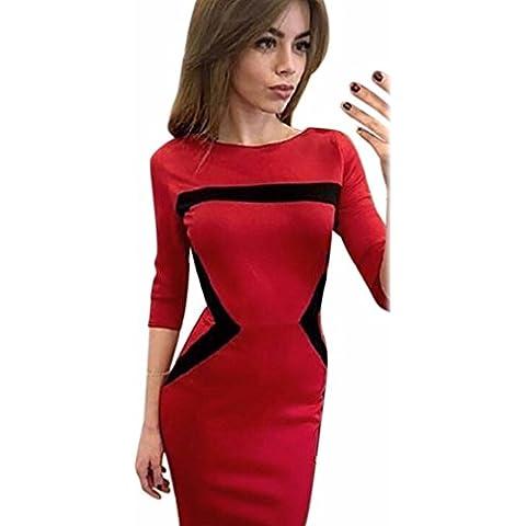 Sexy Vestito, Reasoncool Donne sexy Silm tre quarti manica girocollo