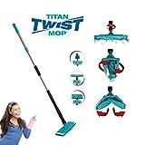 Kohler24 Titan Twist Mop Microfaser-Bodenwischer, Einfach zu handhaben Dank Auswringfunktion - Geeignet für Viele Böden mit Einfacher Reinigungsfunktion