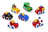 TOLO 'Baby Fahrzeuge Set' - 7tlg. mit Krankenwagen, Feuerwehr- + Polizeiauto + 4 Fahrzeugen (Altersempfehlung: ab 6 Monaten)