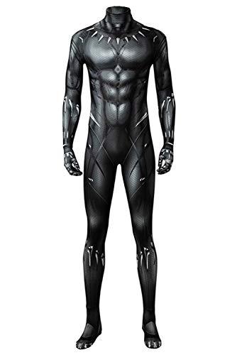 Jumpsuit Deluxe Kostüm - Tollstore Herren Schwarz Superheld Kostüm Deluxe