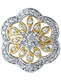Waama Jewels Gold Plated Cubic Zirconia Gemstone Brass Maked Ring For Women And Girl Party Wear Chritsmas New...