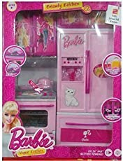 Shop Grab Kid's Modern Barbie Kitchen Play Set (Multicolour)