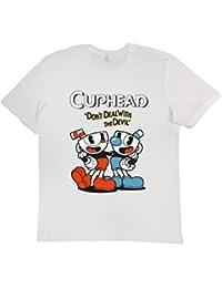 T-shirt Unisex Fashion 100% Cotone (VERIFICA LA TUA TAGLIA DALLA SCHEDA) Cuphead Gamers Pc Games Consolle