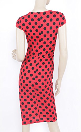 KingField - Robe - Crayon - Manches Courtes - Femme Rouge - Rouge