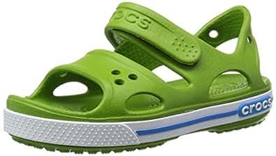Crocs Crocband II - Sandali Unisex – Bambini, Verde (Parrot Green/Ocean), 19/20 EU