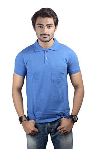 Men's polo pique tees with chest pocket
