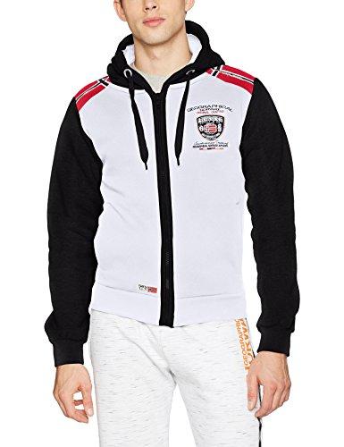 Geographical Norway Herren Sportpullover Finion Men Weiß (White/Black)
