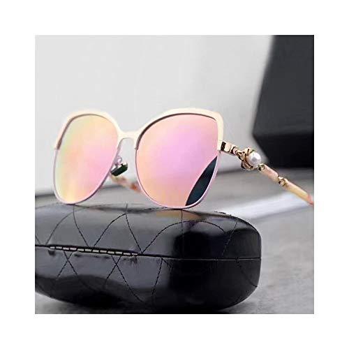WULE-Sunglasses Unisex Frauen Klassische polarisierte Sonnenbrille, Mode-Stil, UV-Schutz Sonnenbrillen (Farbe : Gold/pink)