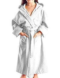 Arus - Peignoir à capuche - Pour fille ou garçon - 100% Coton Tissu bouclette doux