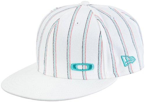 New Era Cap Pinstripe Cap (Oakley Herren Cap Pinstripe New Era, white, S (7 1/8),  91765-100)