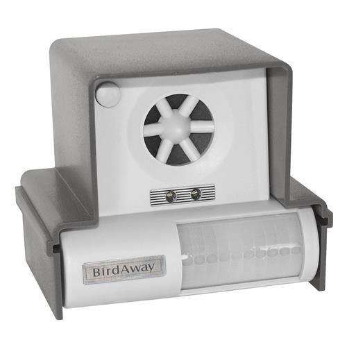Blanko Vogelschreck Birdchaser Ultrasonic und Light, Grau, 110 x 110 x 95 mm