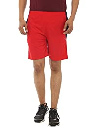TeeMoods Men's Cotton Casual Red Sports Shorts