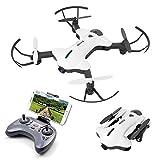 ATOYX AT-146 Drone con Cámara HD Gran Angular, Plegable WiFi FPV Dron Quadcopter Flujo Óptico Posicionamiento, Modo sin Cabeza un Tecla de Aterrizaje y Despegue Sensor de Gravedad RTF - Blanco