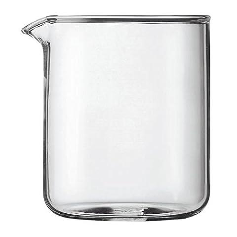 Bodum Transparent Glass Spare Coffee Maker Beaker 4 Cup 0.5L