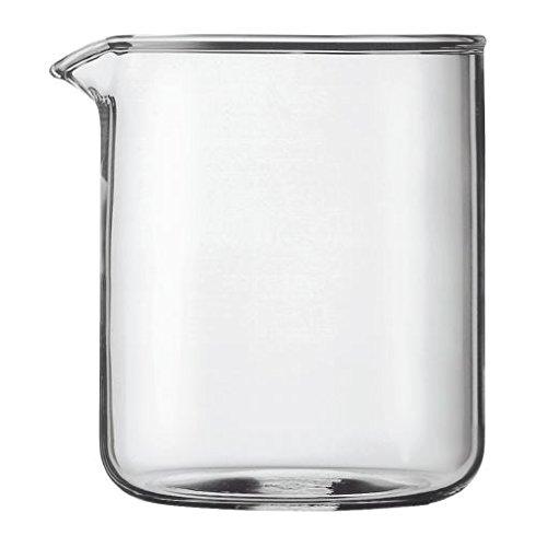 Kaffeemaschine Ersatz Becher Glas (Bodum transparent Glas Ersatz Kaffeemaschine Becher 4-Cup 0,5l (oz) (4Stück))
