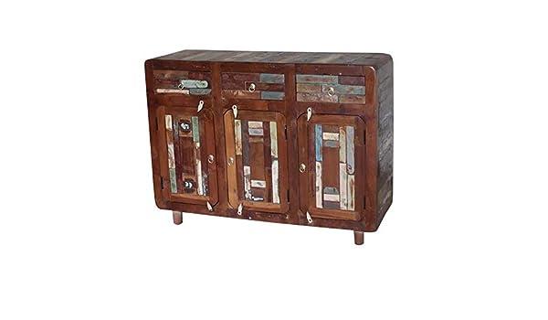 Credenza Con I Pallet : Etnicart credenza con tre cassetti in legno di recupero 120x90x40