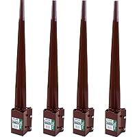 "Marko Gardening 3"" (75mm) Twin Bolt Fence Post Holders Spike-Bolt Grip Support Similar Metpost (4)"