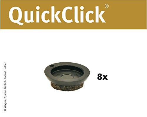 WAGNER QuickClick® Stuhlgleiter // 8er-Set Ersatzgleiter //