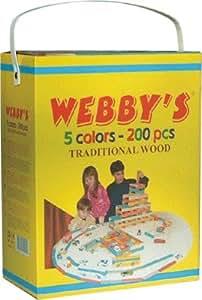 Webby's-planchette En Pin Couleur Assortie - Baril De 200