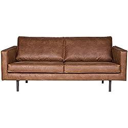 ESTO GmbH 2,5 Sitzer Sofa Rodeo Echtleder Leder Lounge Couch Garnitur Cognac