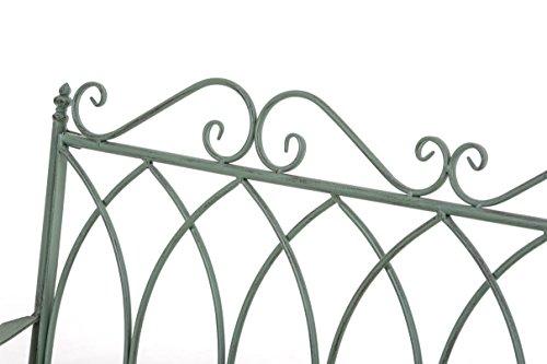 CLP Gartenbank DIVAN im Landhausstil, aus lackiertem Eisen, 106 x 51 cm – aus bis zu 6 Farben wählen Antik Grün - 5