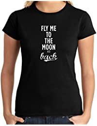 Cotton Island - T-shirt para las mujeres CIT0082 fly me to the moon