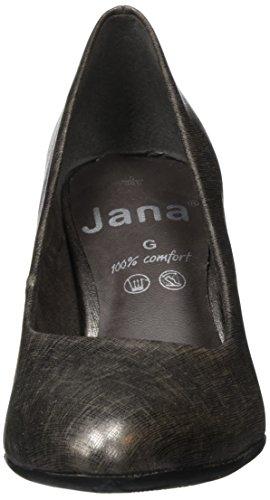 Jana 22400, Scarpe con Tacco Donna Argento (Pewter 915)