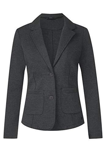 Cecil Damen Basic Sweatblazer Dark Graphite Grey Melange M