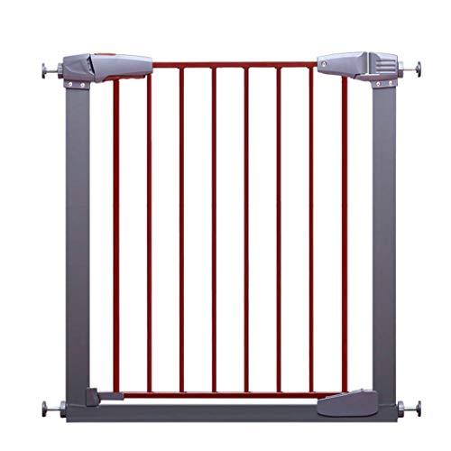 HUIFANG fence Kindersicherung Gate Bar Baby Treppe Tür Zaun Haustier Hund Zaun Zaun Zaun Triple Lock Free Punch (Color : Brown+Gray, Size : 107-113cm) - 110 Punch
