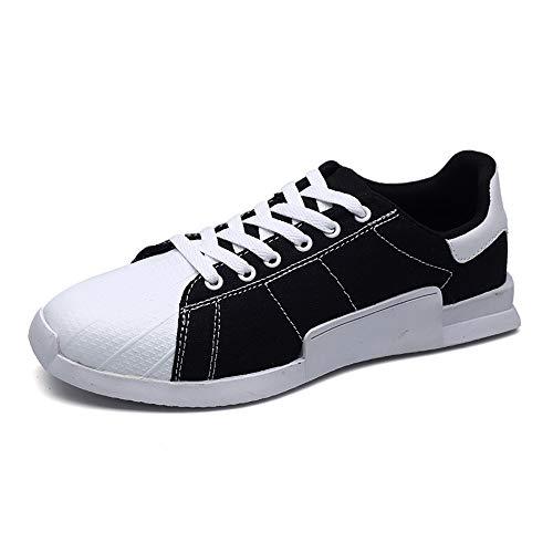 Casual Suede Shoe Mode Sneakers für Männer Sportlich Sport Flache Schnürung Stil Casual Low Top Canvas Schuhe Herren Sneaker (Color : Schwarz, Größe : 41 EU) -