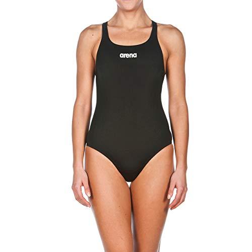 arena Damen Sport Badeanzug Solid Swim Pro (Schnelltrocknend, UV-Schutz UPF 50+, Chlorresistent), Black-White (55), 40