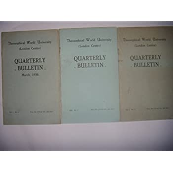 Londres: Théosophie, Blavatsky: Quarterly Bulletin London: 3 vol, 1930-31, BE