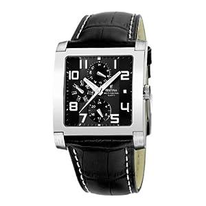 Reloj de caballero FESTINA F16235/F de cuarzo, correa de piel color negro de Festina