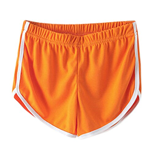 Frauen-Sporthosen Strand Shorts Springy Trunks für die Fitness Orange